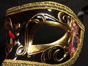 masque vénitien, loup vénitien déguisement, masque venitien homme, acheter masque vénitien paris, masque vénitien femme, boutique masque vénitien paris, masque vénitien fait main Vénitien, Civette Comédia, Noir
