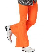 soirée disco, déguisement disco, pantalon pattes d'eph, pantalon disco, pantalon pattes d'éléphant Déguisement Disco, Pantalon Pattes d'Eph Orange