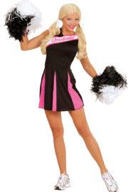 déguisement pompom girl adulte, déguisement cheerleader adulte, costume cheerleader femme, costume pompom girl adulte Déguisement Pompom Girl, Cheerleader, Noir et Rose