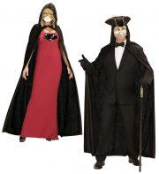 accessoire cape déguisement, déguisement cape halloween, cape noire déguisement, cape déguisement homme, cape déguisement adulte, cape halloween, cape carnaval de venise, cape à capuche déguisement Cape Noire à Capuche, Velours