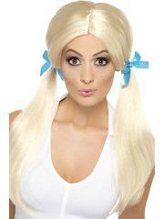 perruque écolière déguisement, perruque femme blonde déguisement, perruque pas cher, perruque couettes blondes déguisements, accessoire perruque déguisement, perruque de déguisement femme, perruque pas cher paris, perruque blonde femme Perruque Ecolière, Couettes Blondes