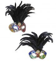 accessoire carnaval brésil, accessoire coiffe brésilienne, déguisement brésil carnaval, déguisement carnaval de rio, masque carnaval de rio, masque à plumes brésil, déguisement carnaval de rio, accessoire coiffe brésilienne Loup Carnaval de Rio, Brésil, à Plumes