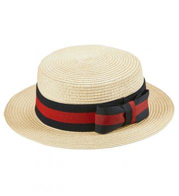 chapeau canotier, canotier en paille années 20, chapeau canotier luxe déguisement, accessoire canotier déguisement, canotier avec ruban déguisement, canotier déguisement années 30 Canotier Luxe, avec Ruban
