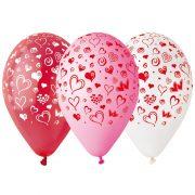 ballon hélium, ballon de baudruche, ballon en latex, ballon anniversaire, ballon sant valentin, décorations saint valentin, ballons pas cher paris Ballon en Latex, x 10, Imprimé Coeurs