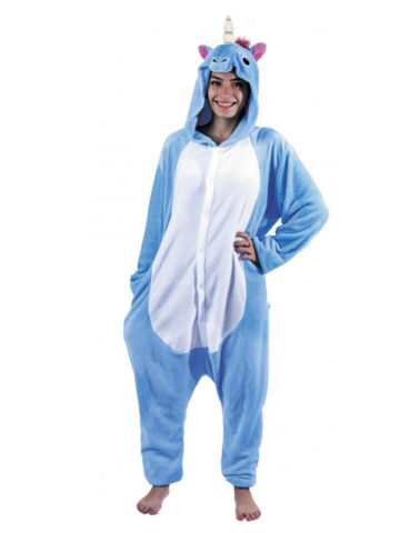 d guisement kigurumi licorne bleue aux feux de la f te. Black Bedroom Furniture Sets. Home Design Ideas