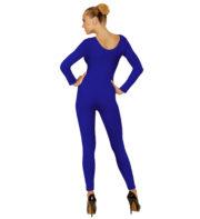 justaucorps bleu, combinaison bleue déguisement, accessoire déguisement femme, accessoire justaucorps déguisement femme, accessoire combinaison femme déguisement Combinaison Justaucorps Manches Longues, Bleu
