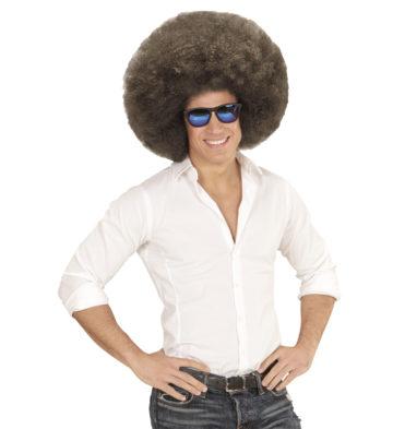 perruque afro disco, accessoire perruque déguisement, perruque afro disco, perruque pour homme, perruque pas chère, perruque de déguisement, perruque homme, perruque noire, perruque afro Perruque Afro Extravolume, Châtain