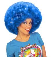 perruque afro disco, accessoire perruque déguisement, perruque afro disco, perruque pour homme, perruque pour femme, perruque pas chère, perruque de déguisement, perruque unisexe, perruque bleue, perruque afro Perruque Afro Disco, Bleue