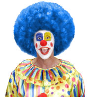 perruque afro disco, accessoire perruque déguisement, perruque afro disco, perruque pour homme, perruque pour femme, perruque pas chère, perruque de déguisement, perruque unisexe, perruque bleue, perruque afro Perruque de Clown, Afro, Disco 80, Bleue
