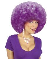 perruque afro disco, accessoire perruque déguisement, perruque afro disco, perruque pour homme, perruque pour femme, perruque pas chère, perruque de déguisement, perruque unisexe, perruque violette, perruque afro Perruque Afro Disco, Violette