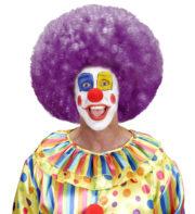 perruque afro disco, accessoire perruque déguisement, perruque afro disco, perruque pour homme, perruque pour femme, perruque pas chère, perruque de déguisement, perruque unisexe, perruque violette, perruque afro Perruque de Clown, Afro, Disco 80, Violette