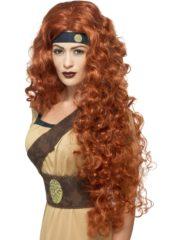 perruque pas chère à paris, perruques femmes, perruques de déguisement, perruque historique, perruque médiévale, perruque moyen âge, perruque de déguisement, perruque renaissance déguisement, accessoire déguisement médiéval, perruque pour se déguiser, perruque rousse Perruque Médiévale Guerrière, Rousse
