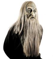 masque vieux en latex, masque horreur en latex, masque vieux avec cheveux, masque de monstre, masque de déguisement, masque déguisement halloween, accessoire déguisement masque, accessoire masque déguisement, masque de vieux halloween Masque d'Ancêtre en Latex