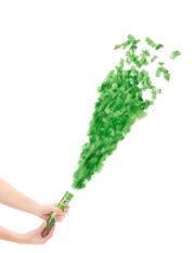 canon à confettis, canons à serpentins, cotillons de fete, cotillons de réveillon, canons à serpentins et confettis, cotillons noel, cotillons de fete, canon pour saint patrick, confettis verts Canon à Confettis, Verts