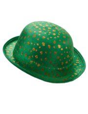 chapeaux melons, chapeau melon, chapeaux de fête, accessoires chapeaux melons saint patrick, chapeau vert, saint patrick, trèfles Chapeau Melon Saint Patrick, Trèfles Dorés