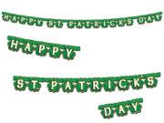 guirlande saint patrick, décoration saint patrick, guirlande trèfles, décorations saint patrick, déco saint patrick, irlandais, irlande Guirlande Happy Saint Patrick's Day, Trèfles
