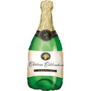 ballon hélium, ballon aluminium, ballon champagne, ballon bouteille, ballon décorations champagne, décoration fête, ballon de fête Ballon Aluminium, Bouteille de Champagne