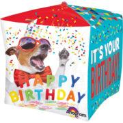 ballon hélium, ballon anniversaire, ballon happy birthday, ballon décoration anniversaire, ballon original pour anniversaire Ballon Aluminium, Anniversaire, Cube Chien