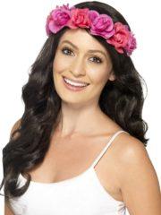 couronne de fleurs, accessoire fée déguisement, accessoire déguisement fée, accessoire hippie déguisement, accessoire déguisement hippie, accessoire couronne de fleurs, bandeau fleurs déguisement Bandeau Couronne de Fleurs, Rose