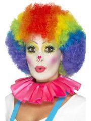 colerette de clown, fraise de clown, fraise en tissu, faux col, accessoire clown déguisement, déguisement de clown, faux col de clown Faux Col Fraise de Clown, Rose