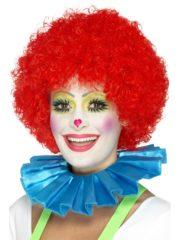 colerette de clown, fraise de clown, fraise en tissu, faux col, accessoire clown déguisement, déguisement de clown, faux col de clown Faux Col Fraise de Clown, Bleu