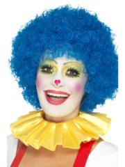 colerette de clown, fraise de clown, fraise en tissu, faux col, accessoire clown déguisement, déguisement de clown, faux col de clown Faux Col Fraise de Clown, Jaune