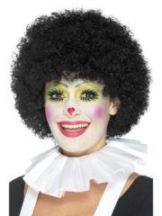 colerette de clown, fraise de clown, fraise en tissu, faux col, accessoire clown déguisement, déguisement de clown, faux col pierrot, faux col arlequin Faux Col Fraise de Clown, Blanc