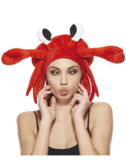 chapeau crabe, déguisement crustacé, accessoire déguisement crabe, déguisement thème de la mer, accessoire chapeau humour, chapeau humoristique, chapeau de crabe Chapeau Crabe