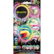 ballons à led, ballons lumineux, ballons fluos, ballons de baudruche, ballons hélium, ballons anniversaires Ballon à LED, Marbrés, x 5