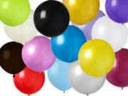 ballon hélium, ballon anniversaire, ballon géant, ballon baudruche, ballon hélium, ballons géants, décorations anniversaire Ballon en Latex, 80 cm, 15 Couleurs