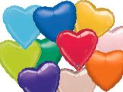 ballon hélium, ballons coeurs, ballon en forme de coeur, ballons mylar,ballon coeur, ballon à l'hélium Ballon Aluminium, Coeur «Amsca», 15 Couleurs