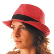 chapeau, borsalino, chapeaux borsalino, accessoires chapeaux, chapeaux paris, chapeaux tissu, chapeau vacances, chapeau rouge Chapeau Borsalino Fedora, Rouge