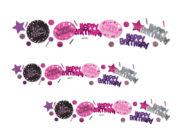 confettis de table, confettis anniversaires, décorations tables, décorations anniversaires, confettis de table Confettis de Table, Anniversaire Rose et Argent