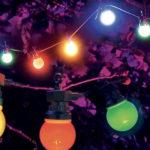 guirlande guinguette, guirlande lumineuse, guirlande boules couleurs, décorations jardins, guirlandes de jardin, guirlande bal Guirlande Guinguette, Boules Lumineuses LED