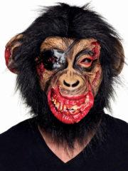 masque de chimpanzé zombie, masque de singe zombie, masques animaux, masques halloween, masque singe zombie sanglant Masque de Chimpanzé Zombie, Latex