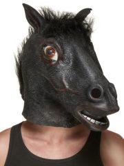 masque de cheval noir, masque cheval en latex, masque animaux, déguisement de cheval, cheval accessoire déguisement, soirée à thèmes animaux Masque de Cheval Noir, Latex