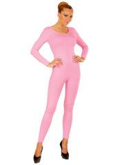 justaucorps rose, combinaison rose déguisement, accessoire déguisement femme, accessoire justaucorps déguisement femme, accessoire combinaison femme déguisement Combinaison Justaucorps Manches Longues, Rose