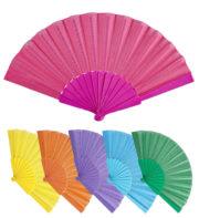 éventail déguisement, éventail en couleur, éventail en tissu, éventail pas cher paris, éventail accessoire déguisement, éventail de marquise, éventail japonais Eventail Multi Coloris en Tissu
