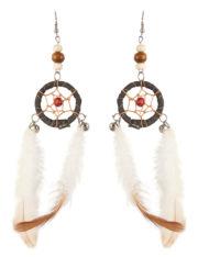 boucle d'oreilles plumes d'indien, accessoires indienne déguisement, déguisement indienne, bijoux indiens, bijoux indiennes déguisement, boucles d'oreilles plumes di'ndiens, plumes d'indiens Boucles d'Oreilles Indiennes