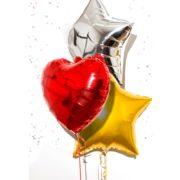 ballon hélium, ballon aluminium, ballon mylar, ballons anniversaire, ballon métal, ballons ronds aluminium, ballons étoiles aluminium, ballons coeur aluminium Ballon Aluminium, 3 modèles, 3 couleurs