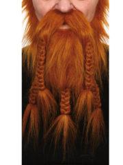 fausse barbe, fausses moustaches, postiche, barbe postiche, fausse barbe réaliste, fausse barbe de déguisement, barbe de viking, barbe avec tresses, barbe avec nattes, barbe de gaulois Barbe, Luxe, Gaulois et Viking, Rousse