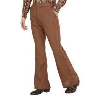 soirée disco, déguisement disco, pantalon pattes d'eph, pantalon disco, pantalon pattes d'éléphant, pantalon années 70 homme, pantalon homme disco Déguisement Disco, Pantalon Pattes d'Eléphant, Marron