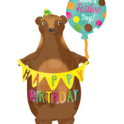 ballon hélium, ballon anniversaire, ballon happy birthday Ballon Aluminium, Anniversaire Ours Géant