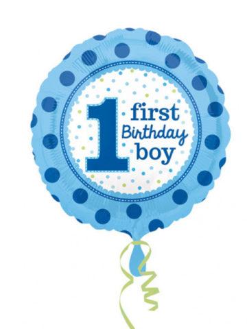 ballon hélium, ballon anniversaire, ballon anniversaire 1 an, ballon premier anniversaire garçon Ballon Aluminium, 1er Anniversaire, Garçon