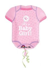 ballon hélium, ballon naissance fille, ballon bébé fille Ballon Aluminium, Naissance Fille, Body Baby Girl