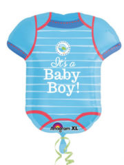 ballon de naissance, ballon bébé fille, ballon hélium, ballon baby shower, ballon gonflage hélium, décoration baby shower Ballon Aluminium, Naissance Garçon, Body Baby Boy