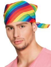 drapeau gay pride, drapeau gaypride, drapeau marche des fiertés, drapeau LGBT, bandana arc en ciel, bandana multicolore Bandana Multicolore, Arc en Ciel