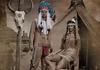 Soirée déguisement déco Cowboys et Indiens