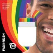 maquillage arc en ciel, maquillage gay pride, maquillage gaypride, maquillage LGBT, maquillage marche des fiertés, accessoire arc en ciel, Maquillage Multicolore Arc en Ciel