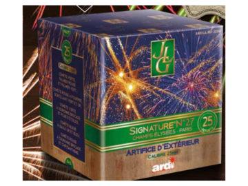 feux d'artifice automatiques, achat feux d'artifice paris, feux d'artifices compacts, feux d'artifices ARDI, feux d'artifice pas cher, feux d'artifices pour particuliers Feux d'Artifices Compacts, Signature 27